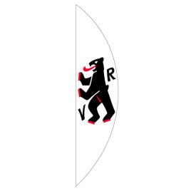 Bandiera verticale, curvato stampata,