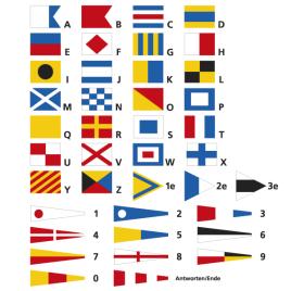 Serie di bandiere, segnale