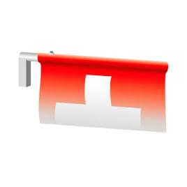 Hampe transversale pour largeur de l'oriflamme 120 cm