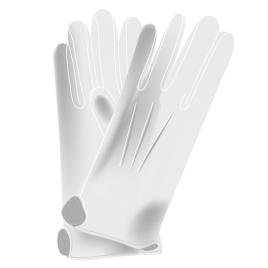 Handschuhe mit Noppen, weiss 100% Baumwoll-Simplex, Grösse 13/14/15