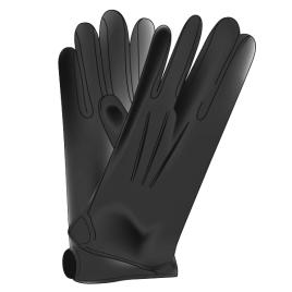 Handschuhe, schwarz, 100% Baumwoll-Simplex Grösse 14