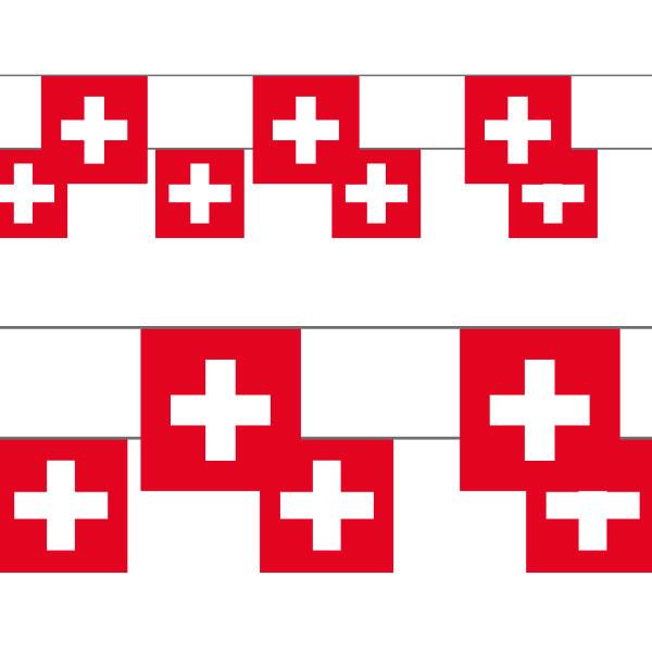 Schweizer Fahnenkette, 10 Fähnli