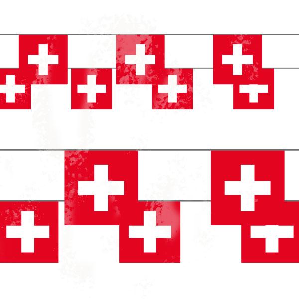 Schweizer Fahnenkette, 15 Fähnli