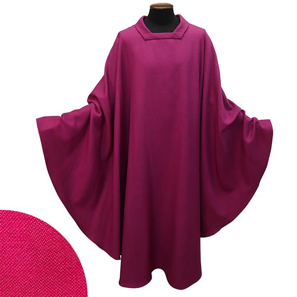Casel violett, handgewoben, Wolle/Seide