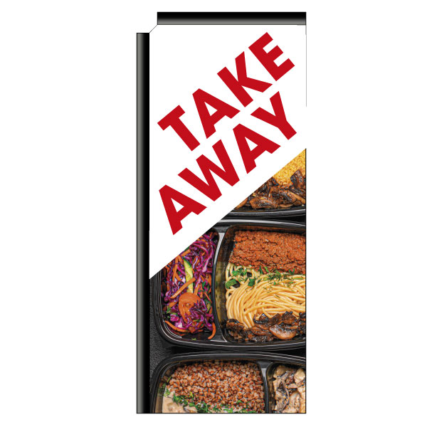 "Beachflag ""Take-away"" (1), imprimé, 761 x 1821 mm"