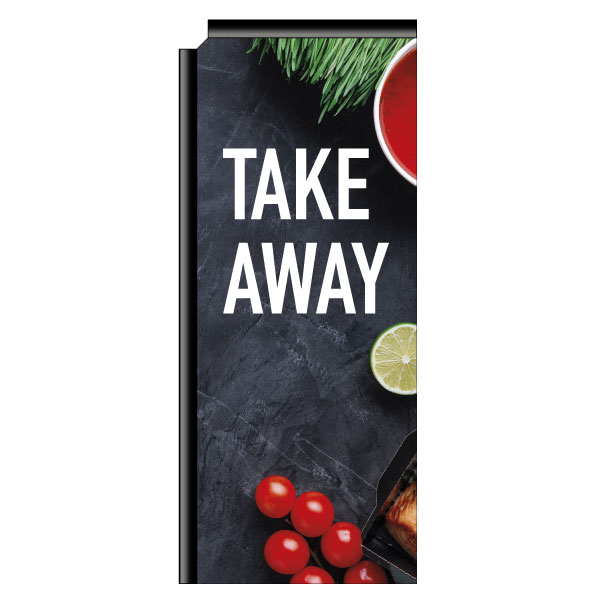 "Beachflag ""Take-away"" (3), imprimé, 761 x 1821 mm"