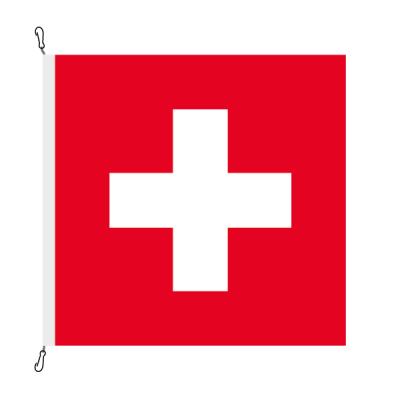 Fahne, eingesetzt Schweiz, 200 x 200 cm