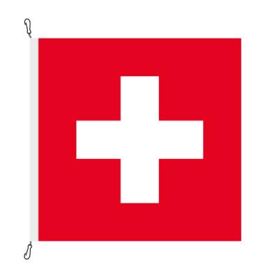 Fahne, eingesetzt Schweiz, 250 x 250 cm