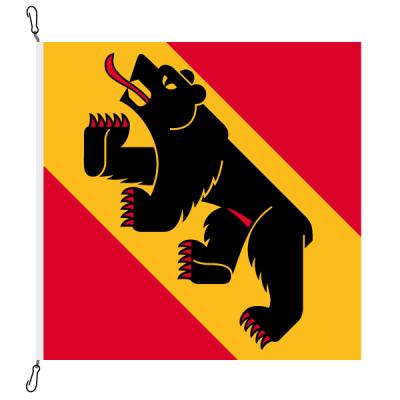 Fahne, Kanton eingesetzt Bern, 120 x 120 cm