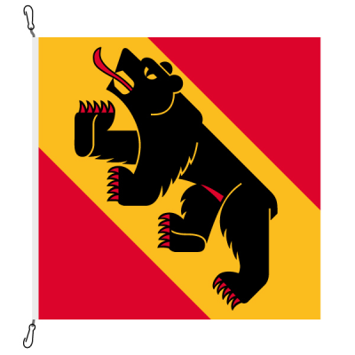 Fahne, Kanton eingesetzt Bern, 150 x 150 cm