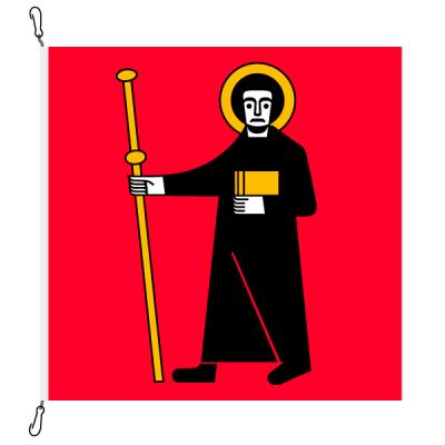 Fahne, Kanton eingesetzt Glarus, 78 x 78 cm
