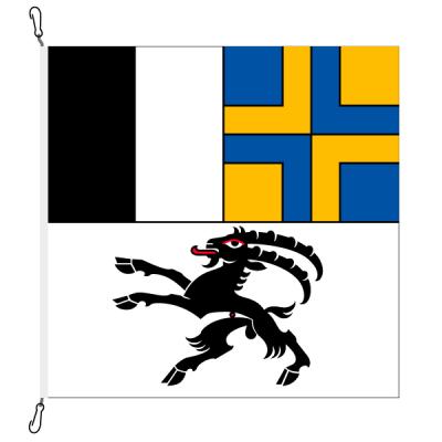 Fahne, Kanton eingesetzt Graubünden, 120 x 120 cm