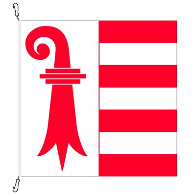 Fahne, Kanton eingesetzt Jura, 100 x 100 cm