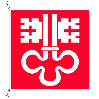 Fahne, Kanton eingesetzt Nidwalden, 78 x 78 cm