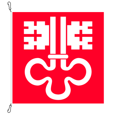 Fahne, Kanton eingesetzt Nidwalden, 400 x 400 cm