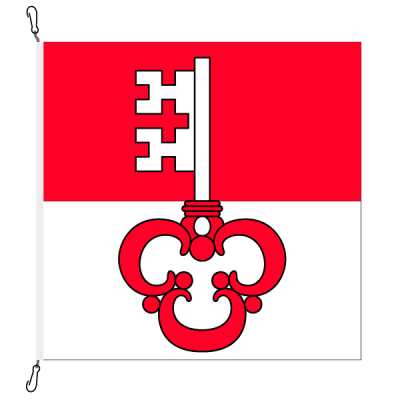 Fahne, Kanton eingesetzt Obwalden, 150 x 150 cm