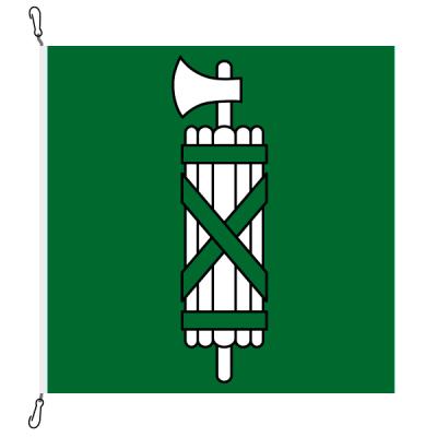 Fahne, Kanton eingesetzt St. Gallen, 100 x 100 cm