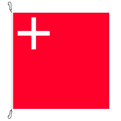 Fahne, Kanton eingesetzt Schwyz, 120 x 120 cm