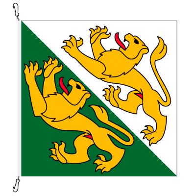 Fahne, Kanton eingesetzt Thurgau, 120 x 120 cm