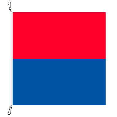Fahne, Kanton eingesetzt Tessin, 78 x 78 cm
