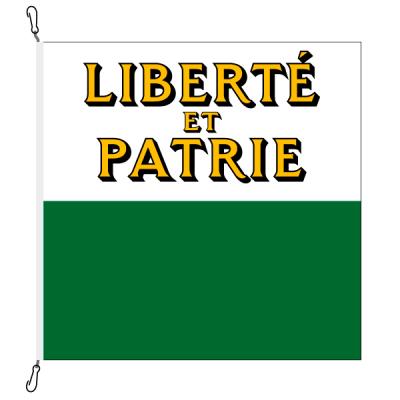 Fahne, Kanton eingesetzt Waadt, 120 x 120 cm