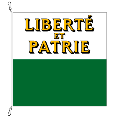 Fahne, Kanton eingesetzt Waadt, 200 x 200 cm
