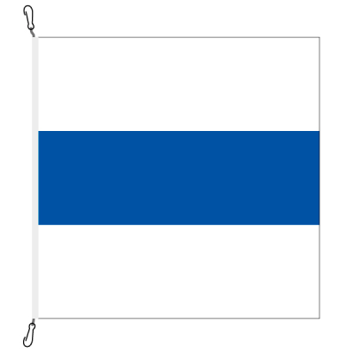 Fahne, Kanton eingesetzt Zug, 100 x 100 cm