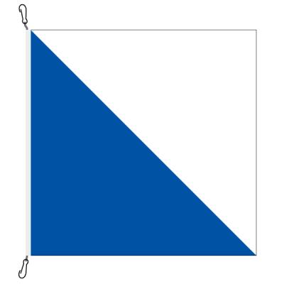 Fahne, Kanton eingesetzt Zürich, 100 x 100 cm
