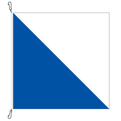 Fahne, Kanton eingesetzt Zürich, 120 x 120 cm