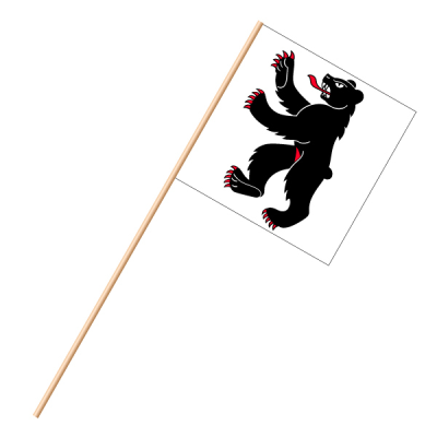 Fahne, an Holzstab 90 cm lang Appenzell AI, 30 x 30 cm