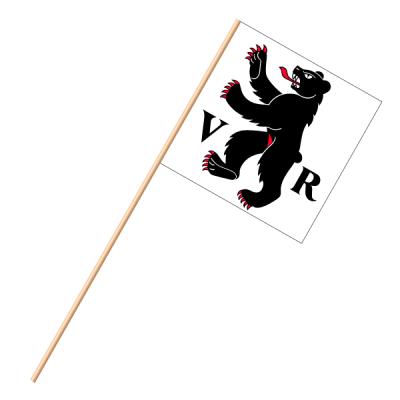 Fahne, an Holzstab 90 cm lang Appenzell AR, 30 x 30 cm