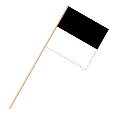 Fahne, an Holzstab 90 cm lang Freiburg, 30 x 30 cm