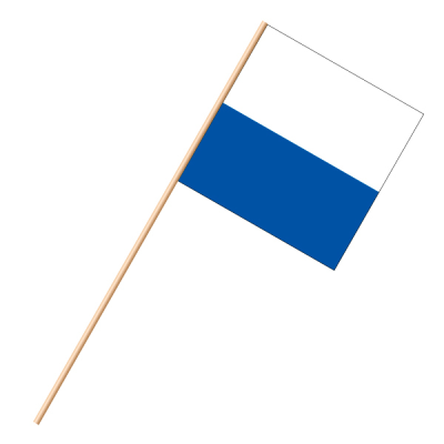 Fahne, an Holzstab 90 cm lang Luzern, 30 x 30 cm