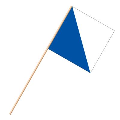 Fahne, an Holzstab 90 cm lang Zürich, 30 x 30 cm