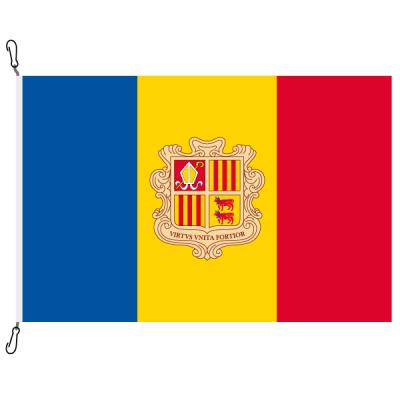 Fahne, Nation bedruckt, Andorra, 70 x 100 cm