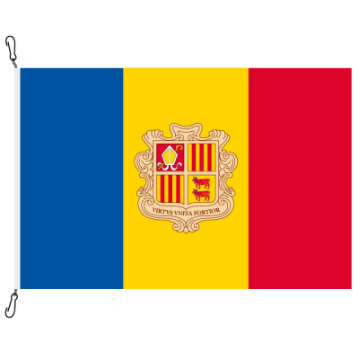 Fahne, Nation bedruckt, Andorra, 150 x 225 cm