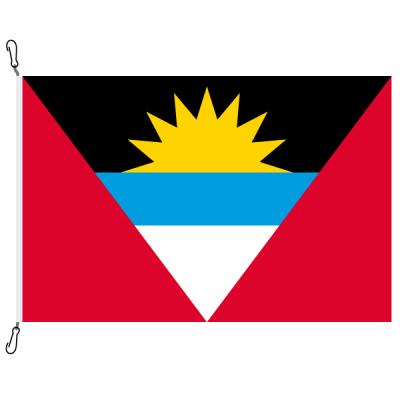 Fahne, Nation bedruckt, Antigua und Barbuda, 70 x 100 cm