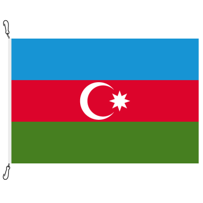 Fahne, Nation bedruckt, Aserbaidschan, 70 x 100 cm