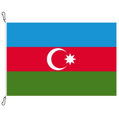 Fahne, Nation bedruckt, Aserbaidschan, 100 x 150 cm
