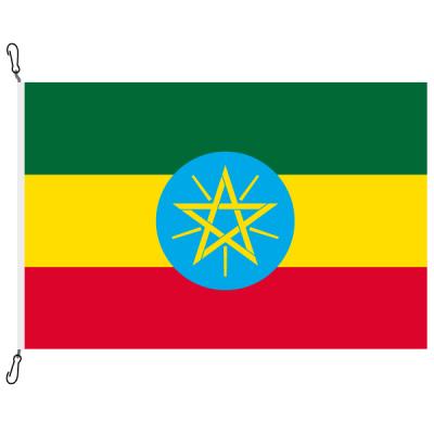 Fahne, Nation bedruckt, Äthiopien, 70 x 100 cm