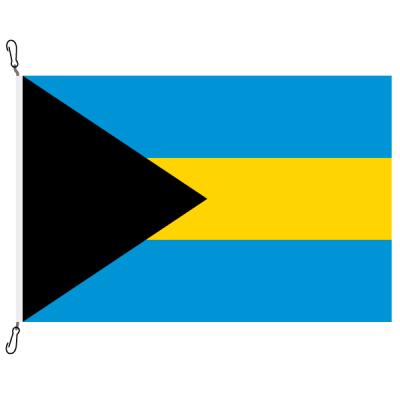 Fahne, Nation bedruckt, Bahamas, 70 x 100 cm