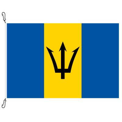 Fahne, Nation bedruckt, Barbados, 70 x 100 cm
