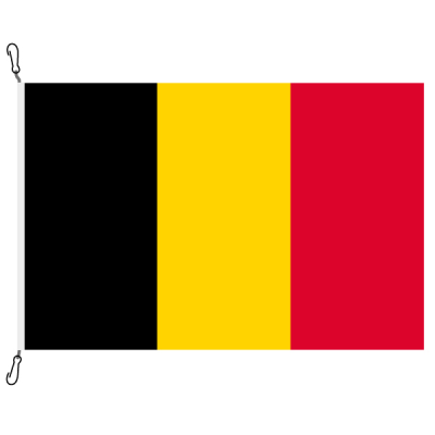 Fahne, Nation bedruckt, Belgien, 70 x 100 cm