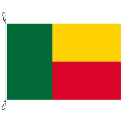 Fahne, Nation bedruckt, Benin, 70 x 100 cm