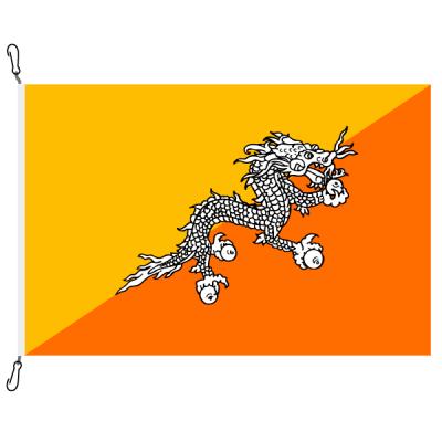 Fahne, Nation bedruckt, Bhutan, 70 x 100 cm