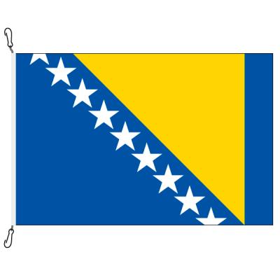 Fahne, Nation bedruckt, Bosnien-Herzegowina, 70 x 100 cm