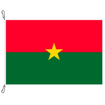 Fahne, Nation bedruckt, Burkina Faso, 70 x 100 cm
