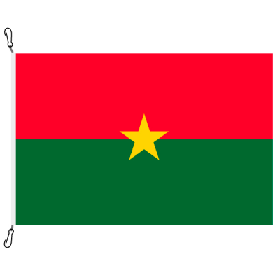 Fahne, Nation bedruckt, Burkina Faso, 150 x 225 cm