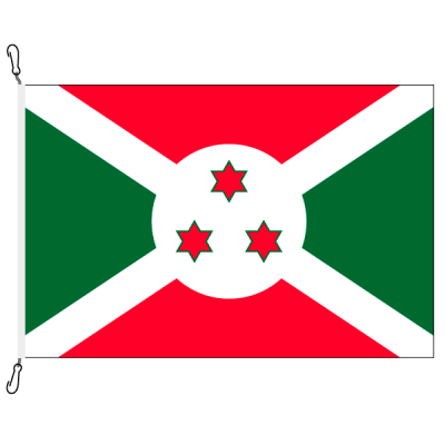Fahne, Nation bedruckt, Burundi, 150 x 225 cm