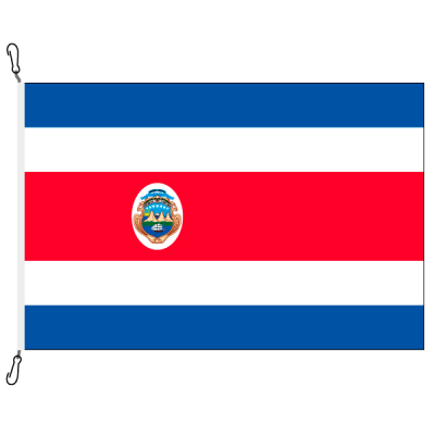 Fahne, Nation bedruckt, Costa Rica, 70 x 100 cm